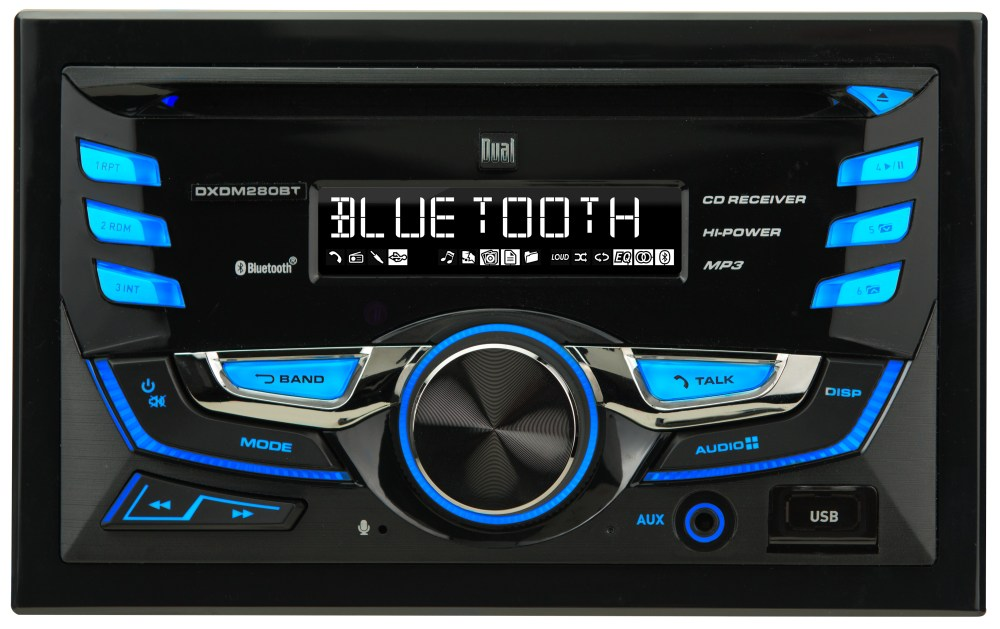 medium resolution of  dual electronics dxdm280bt multimedia lcd high resolution double din car stereo receiver with built in bluetooth cd usb mp3 wma player walmart com