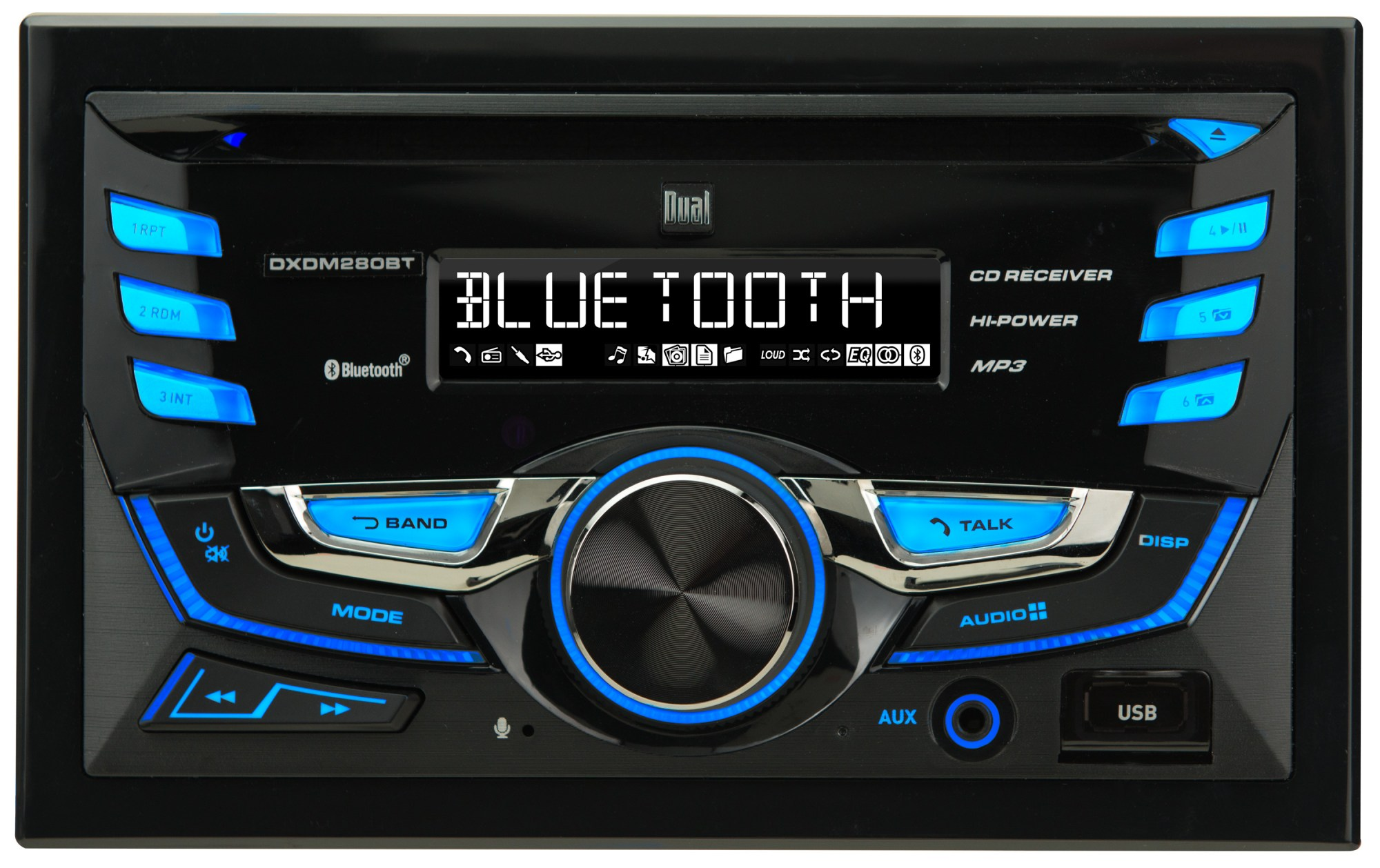 hight resolution of  dual electronics dxdm280bt multimedia lcd high resolution double din car stereo receiver with built in bluetooth cd usb mp3 wma player walmart com