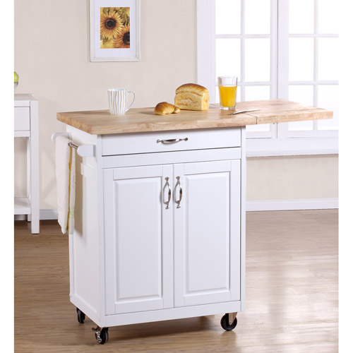 kitchen island carts cabinet paint ideas mainstays cart multiple finishes walmart com departments