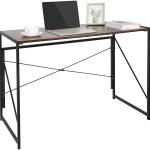 Zenstyle Folding Computer Writing Desk Wood And Metal Study Desk Pc Laptop Home Office Study Table Walmart Com Walmart Com