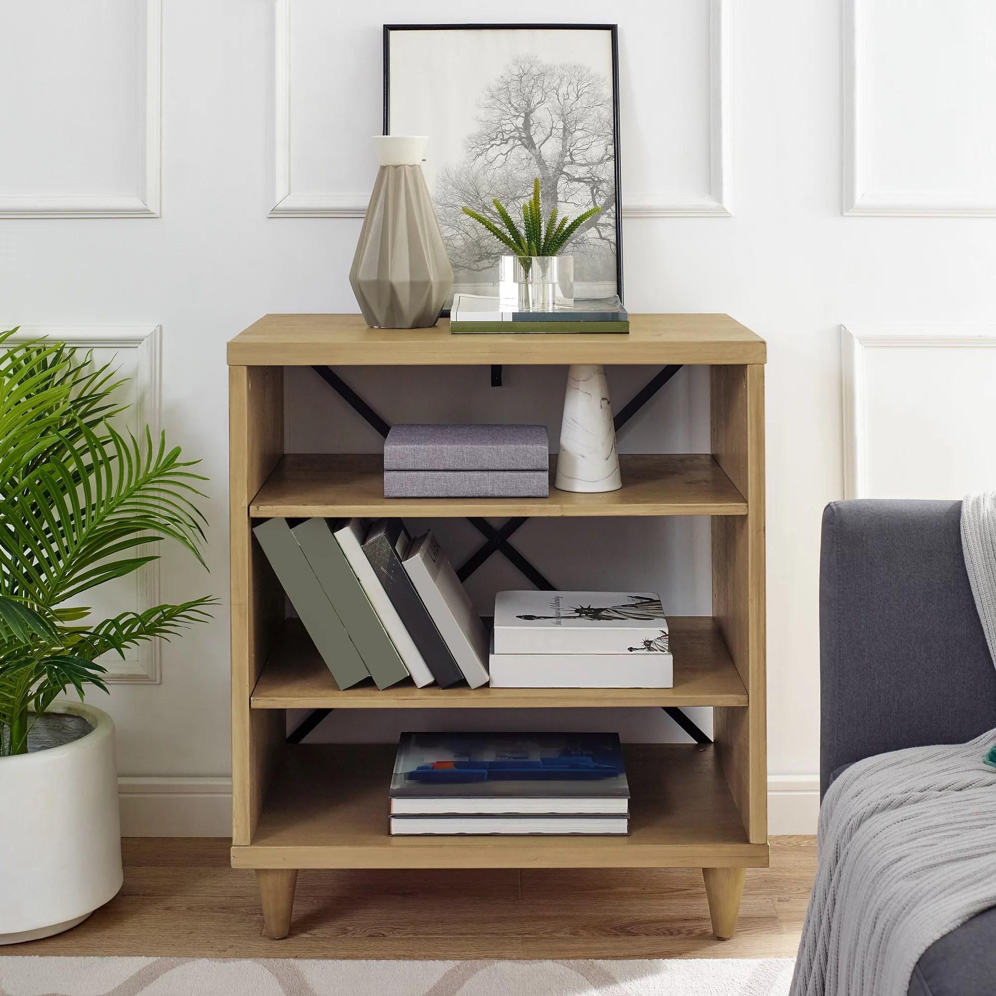 Modern Essentials Georgette Rustic Farm House Three Shelf