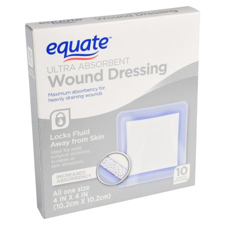 """Equate Extremely Absorbent Wound Dressing, four"""" X four"""", 10 Ct 9e9b95a7 2fd3 4236 ab4c 0c1448db0ed9 1"""
