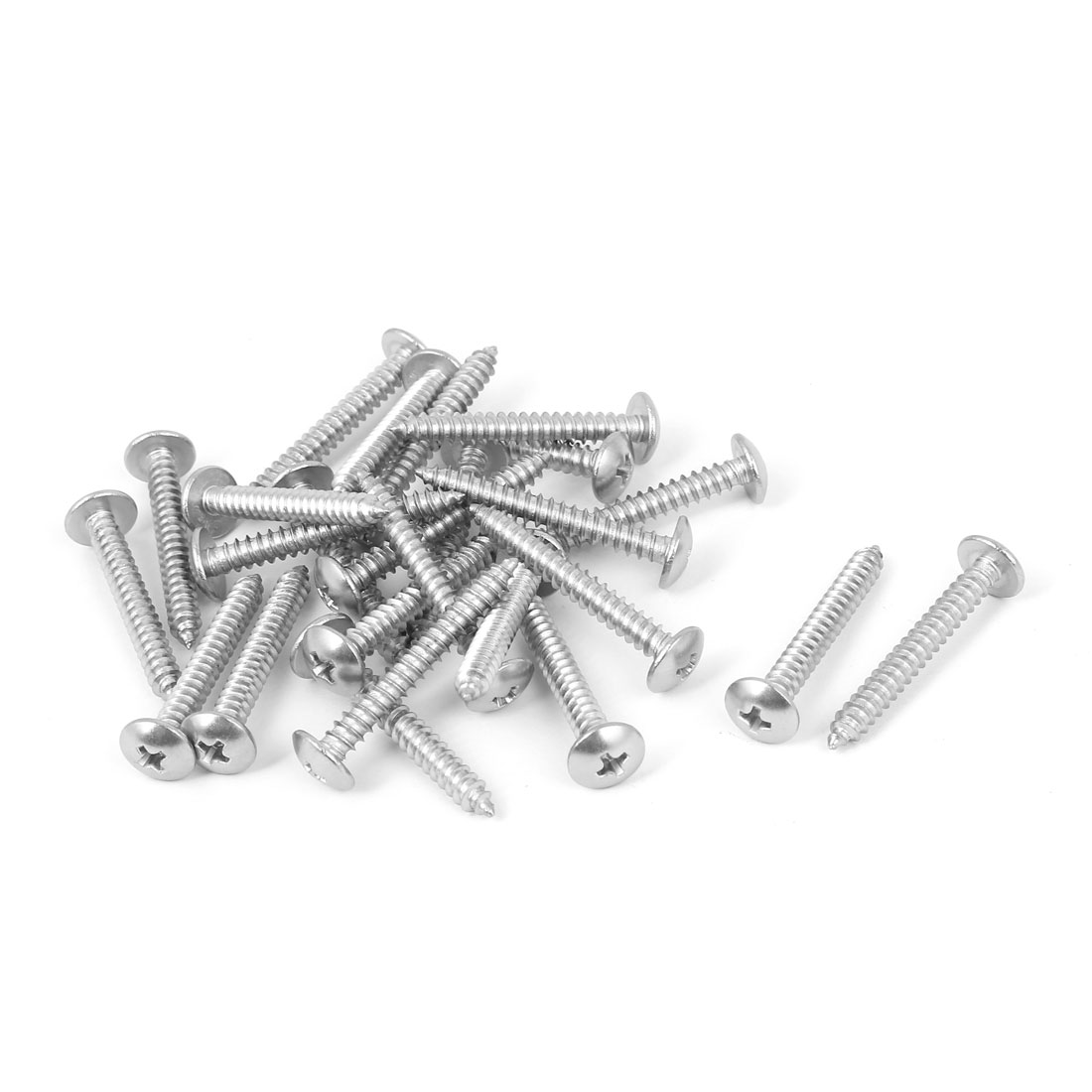 Uxcell 8 M4 2x32mm Stainless Steel Truss Head Self Tapping Thread Screw 25 Pack