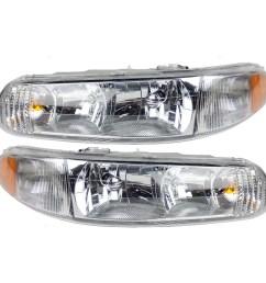 brock headlights headlamps driver and passenger replacements for 97 05 buick century 97 04 regal 19244639 19244638 walmart com [ 1000 x 1000 Pixel ]