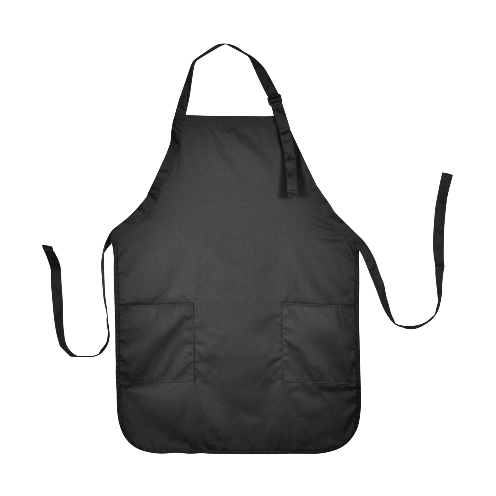 kitchen aprons chair dalix apron commercial restaurant home bib spun poly cotton 2 pockets in black walmart com
