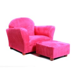 Kids Chair And Ottoman Simple Design Keet Roundy Microsuede With Walmart Com