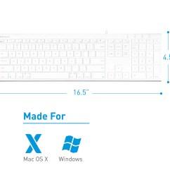macally ultra slim usb wired computer keyboard for apple mac pro macbook pro air imac mac mini laptop windows pc laptop acekey walmart com [ 3125 x 3125 Pixel ]