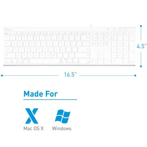 small resolution of macally ultra slim usb wired computer keyboard for apple mac pro macbook pro air imac mac mini laptop windows pc laptop acekey walmart com
