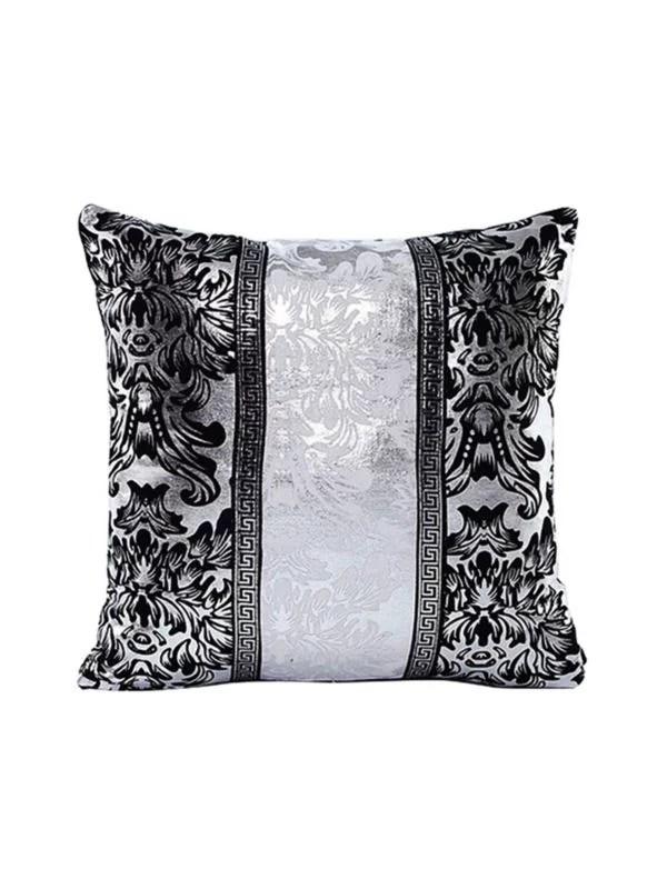 vintage black silver throw pillow case cushion cover sofa home living room decor