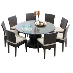 60 Inch Kitchen Table Quartz Countertops Colors For Kitchens Pluto Outdoor Patio Dining With 8 Chairs Walmart Com