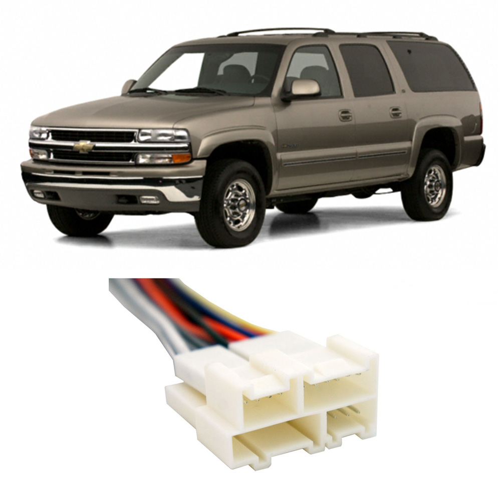 hight resolution of chevy suburban 1992 2002 factory stereo to aftermarket radio harness adapter walmart com