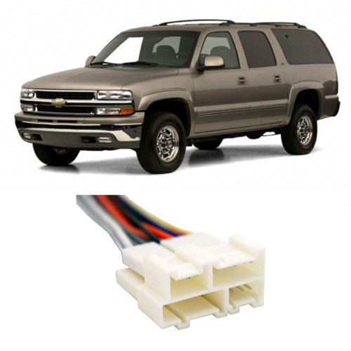 small resolution of chevy suburban 1992 2002 factory stereo to aftermarket radio harness adapter walmart com