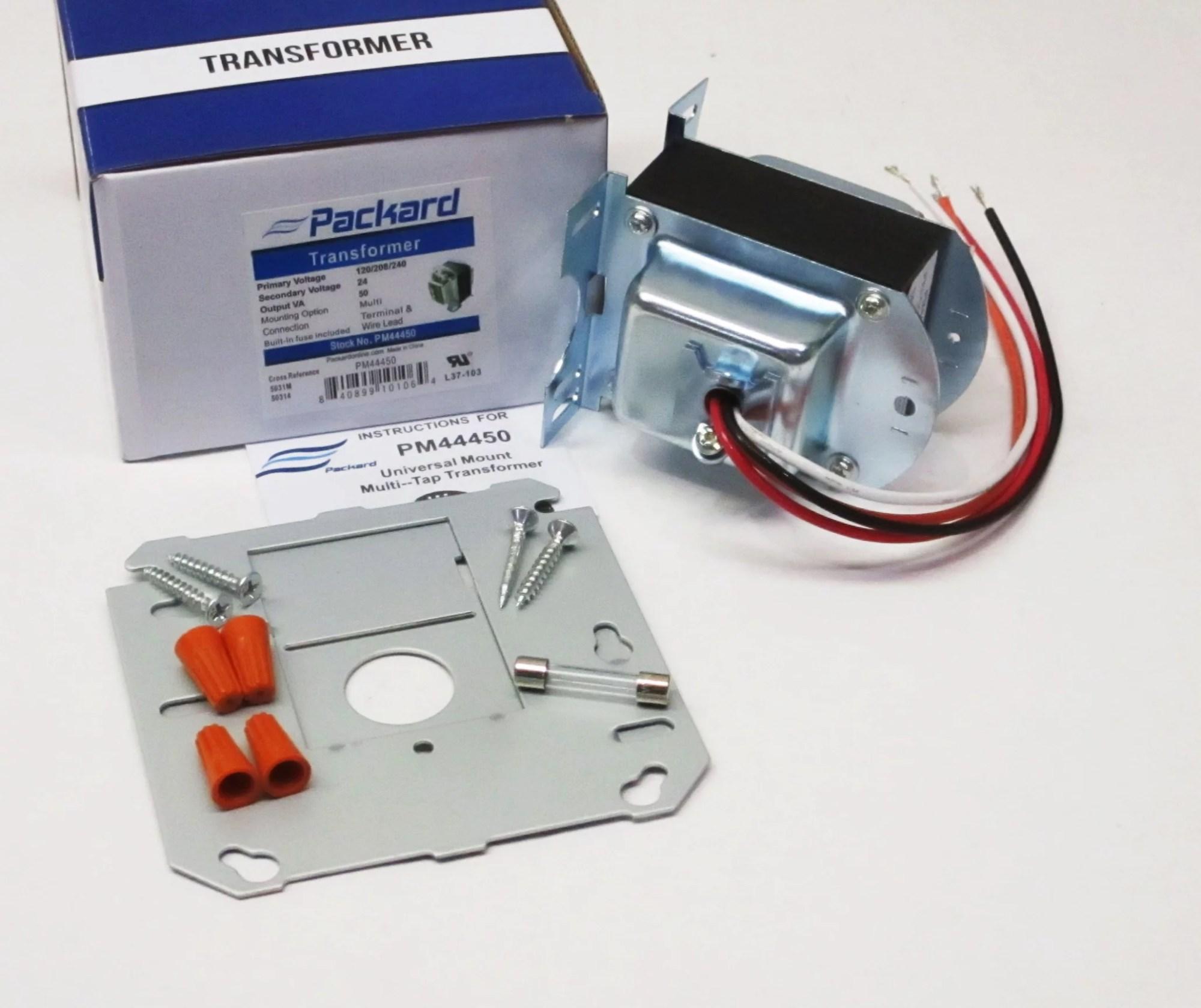 hight resolution of packard pm44450 transformer 120 208 240 v pri 24 v secondary 50 va walmart com