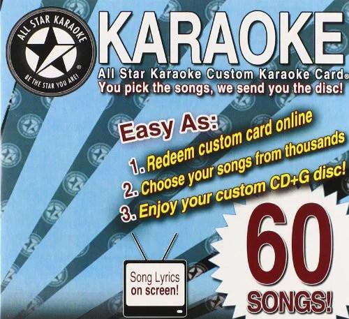Karaoke 60 Song Custom Karaoke Card Walmart