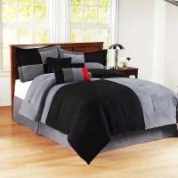Mainstays Colorblock Comforter Set, Blac - Walmart.com