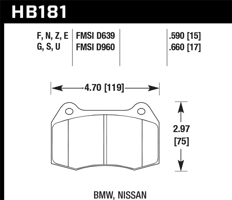 Hawk 02-04 Acura RSX / 94-97 BMW 840CI/850CI / 92-02