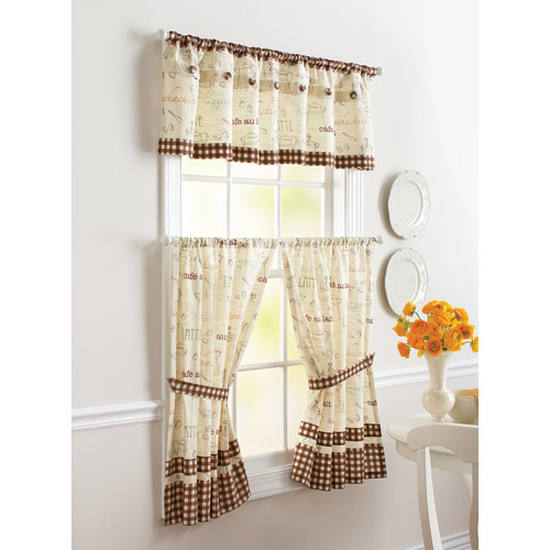 cafe kitchen curtains quality cabinet brands better homes gardens tier set mul departments