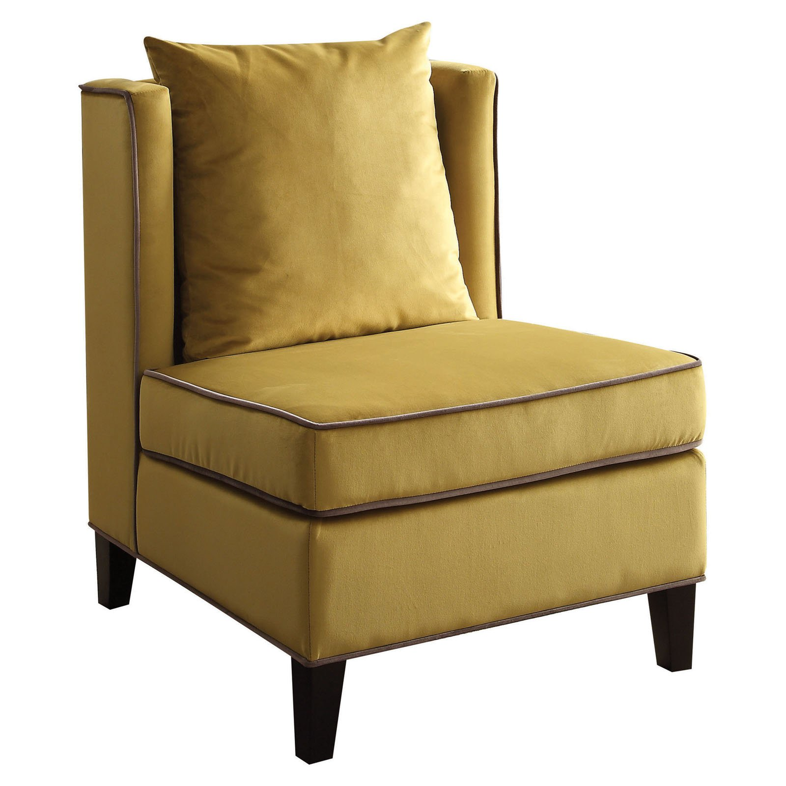 accent chair yellow saucer ikea acme ozella velvet walmart com