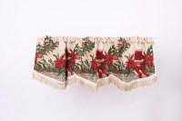 Holiday Seasonal Tapestry Decorative Christmas Window ...