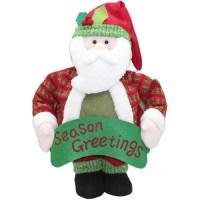 "Holiday Time 40"" Tall Pop-Up Indoor Santa Christmas ..."