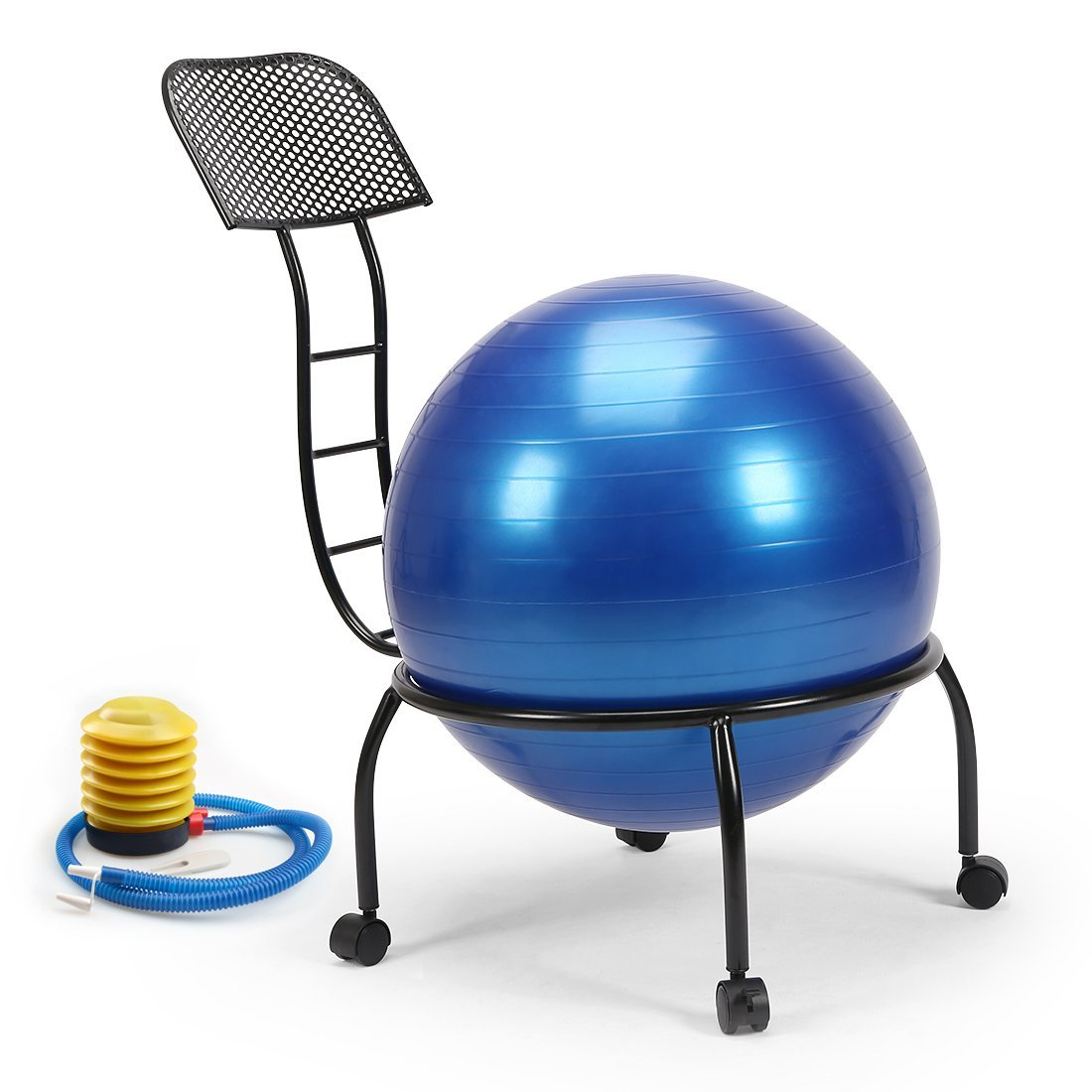 Yoga Ball Desk Chair Live Up Balance Ball Posture Chair Exercise Fitness 20 3 Inch Yoga Ball Chair Metal Frame With Wheels For Home And Office
