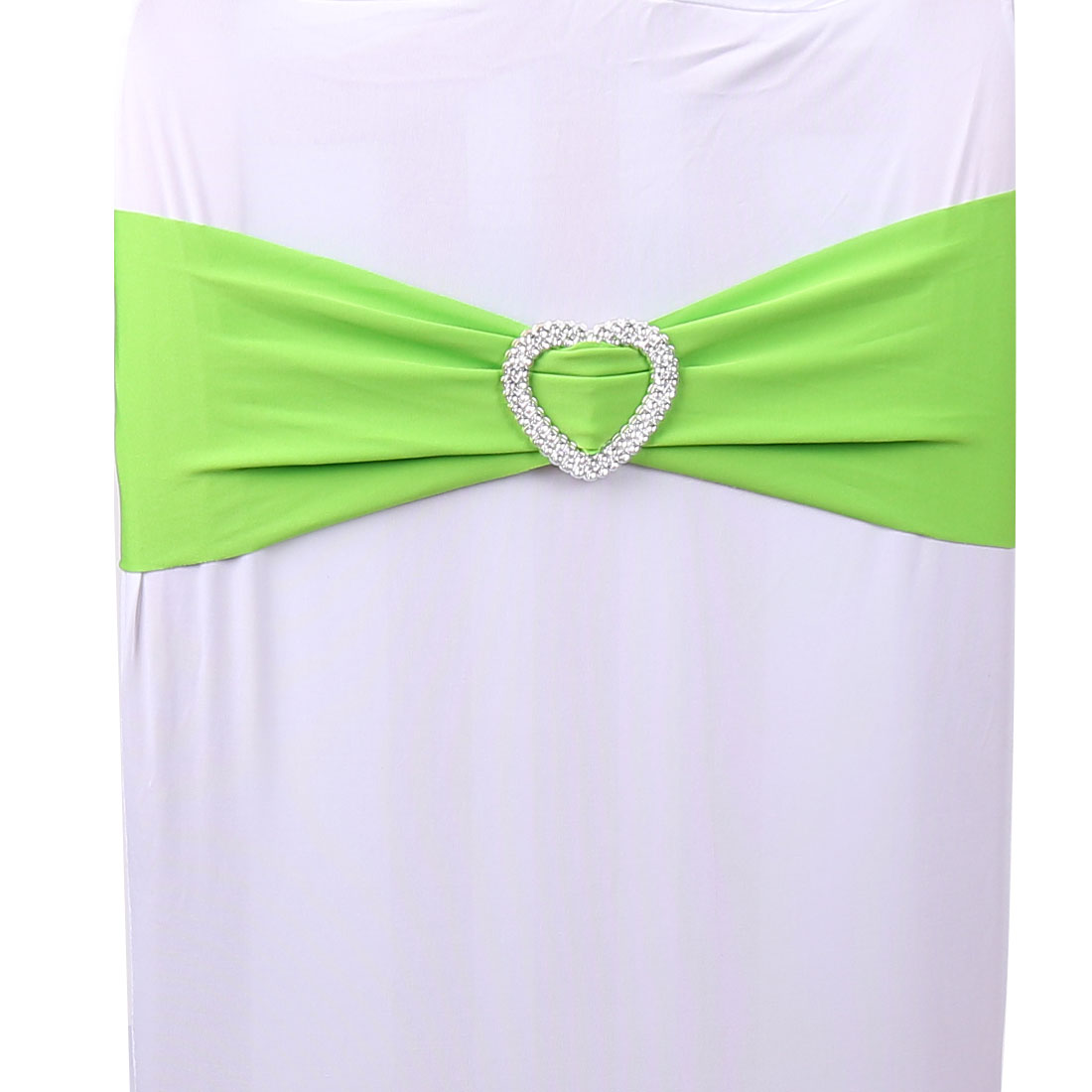 green banquet chair covers dining chairs leather spandex stretch heart decor wedding cover sash bands departments
