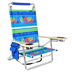 Beach Chair Cup Holder Office The Range Deluxe 5 Pos Lay Flat Aluminum W 250 Lb Load Capacity Walmart Com