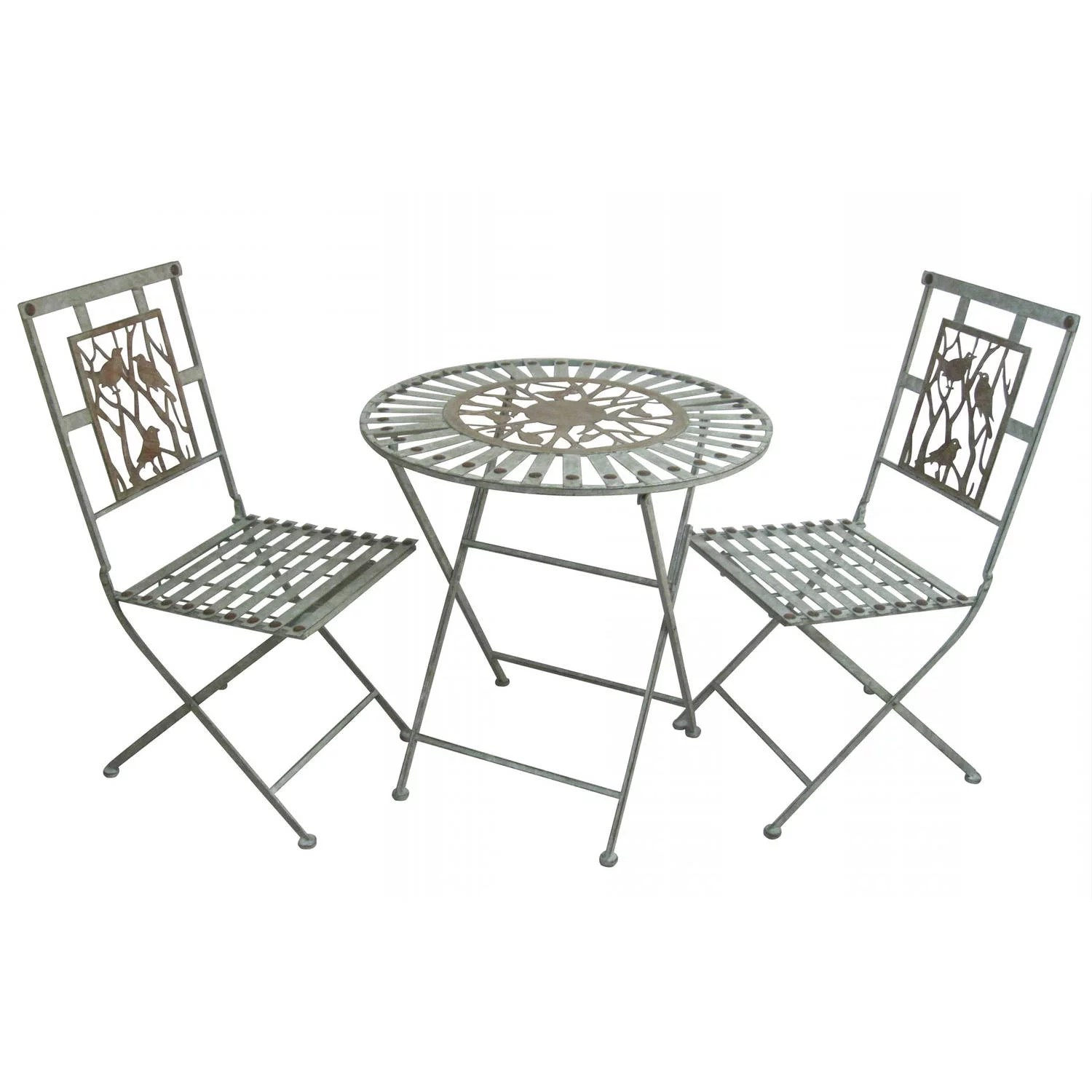 Birds on Branches Bistro Set of 1 Table and 2 Chairs
