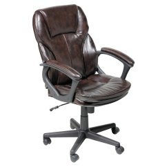 Serta Bonded Leather Executive Chair Clear Dining Chairs Nz Manager Puresoft Office Roasted Chestnut Walmart Com