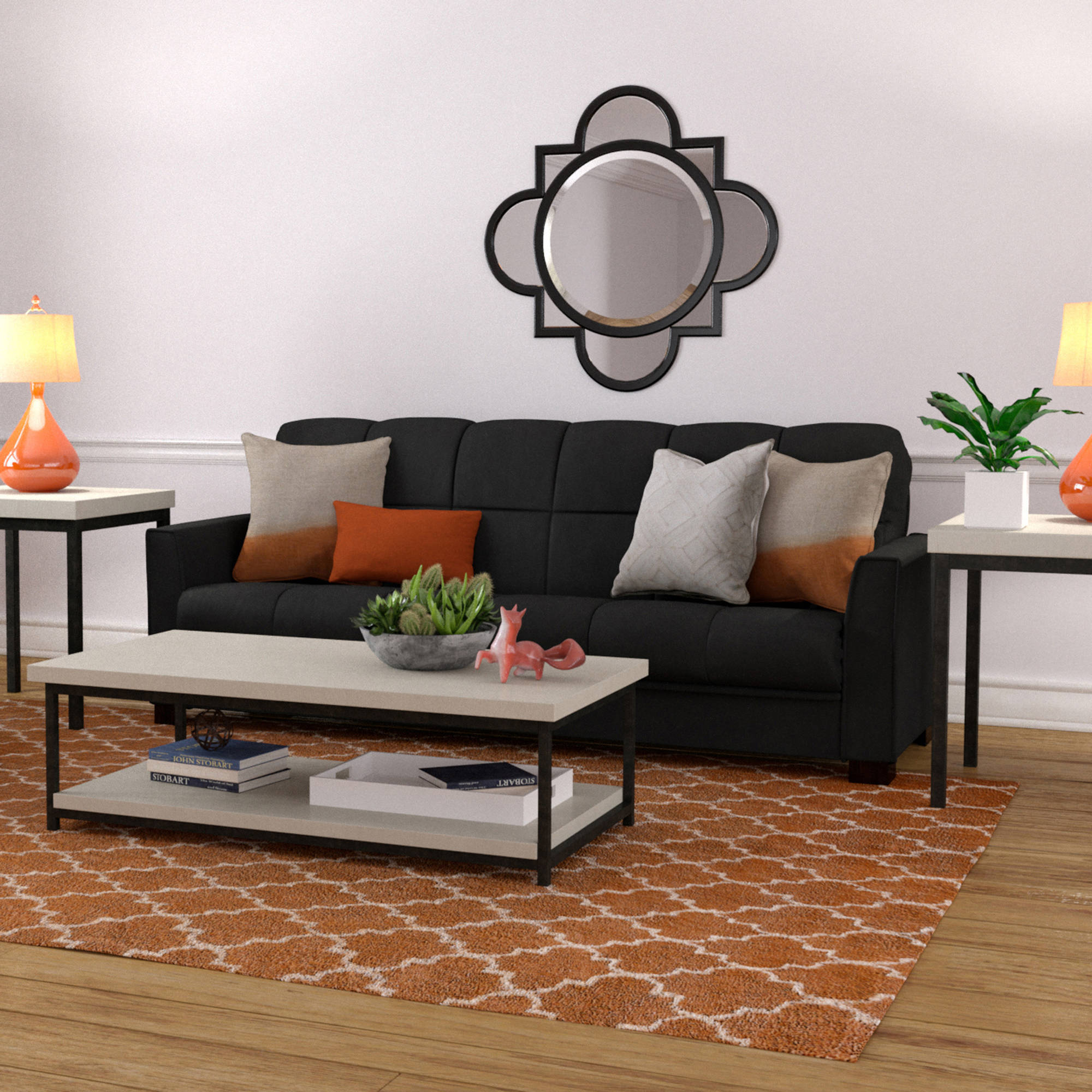 sleeper sofa bad credit sectional with wood trim baja convert-a-couch bed, multiple colors ...