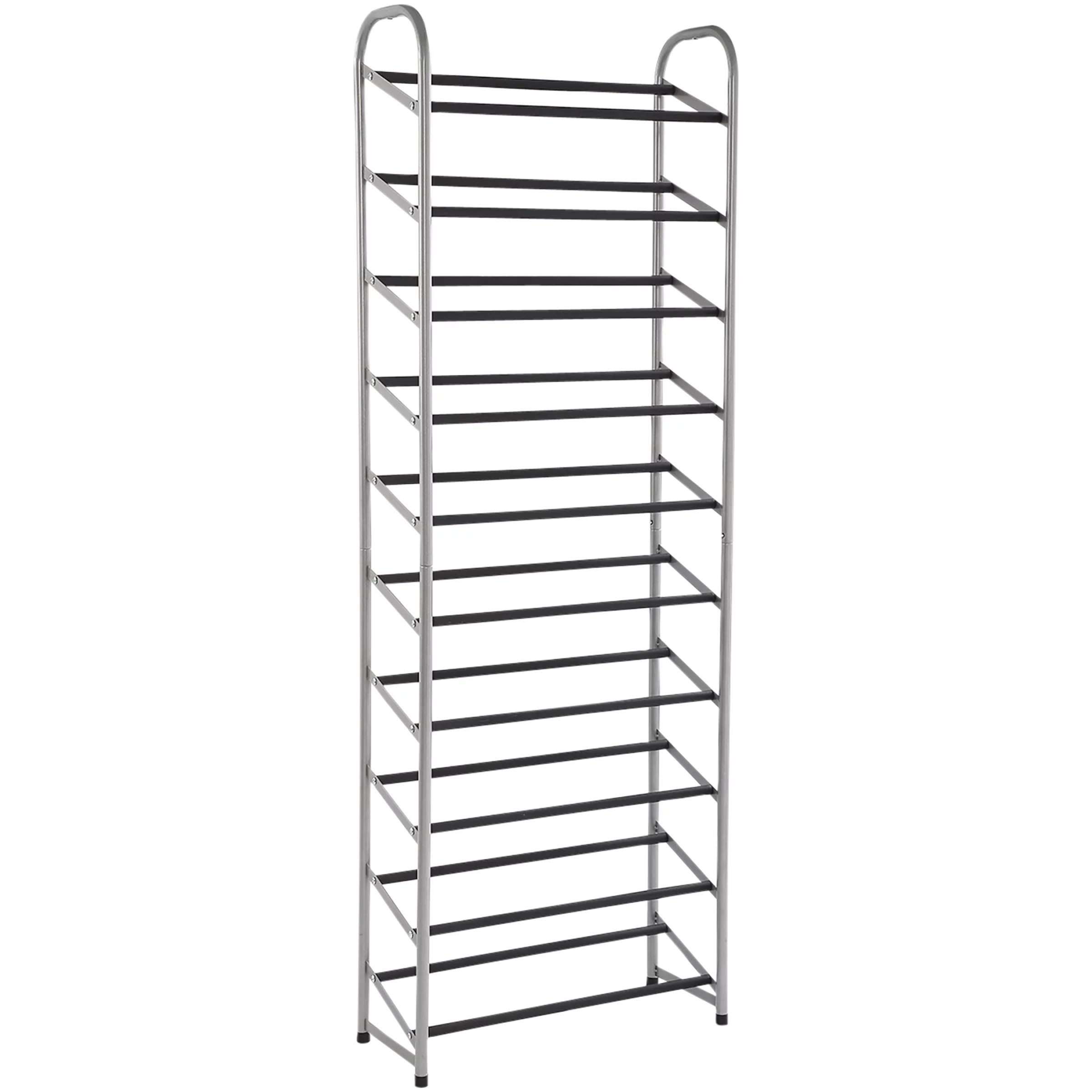10 Tier Narrow Shoe Rack Shelves Closet Storage Organizer