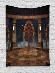 medieval tapestry gothic sky walmart living terrace hanging temple