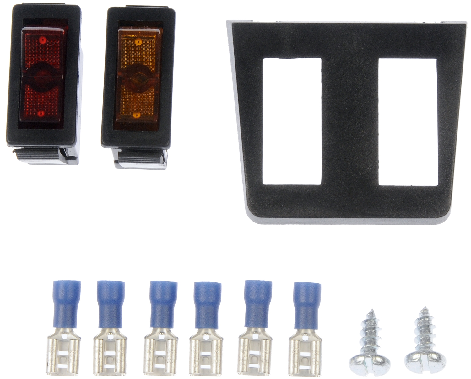 dorman oe solutions 86921 multi purpose switch conduct tite r 12 volt 20 amp max rocker rectangular non lighted red amber without safety cover  [ 2000 x 2000 Pixel ]
