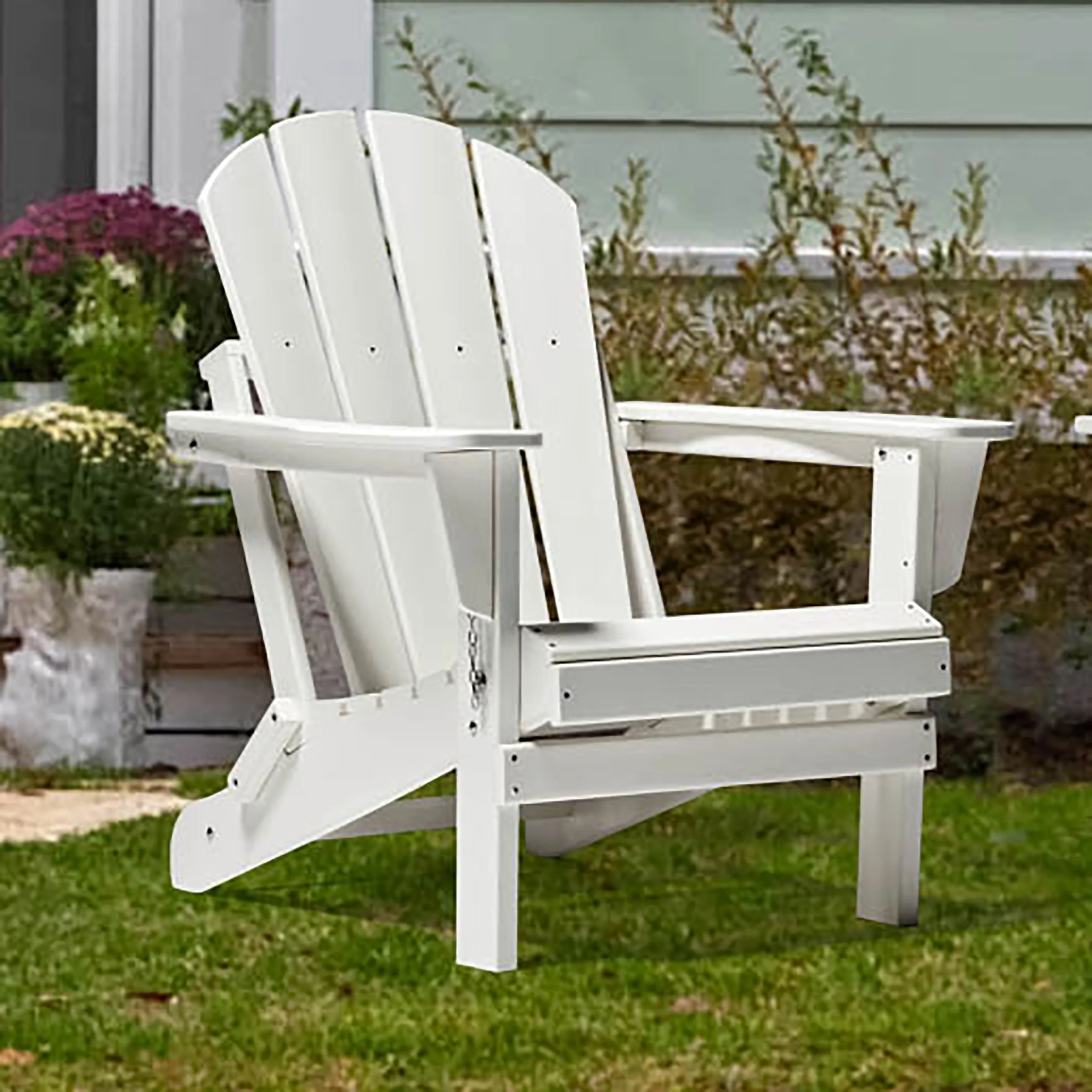 braxton folding plastic adirondack chair white