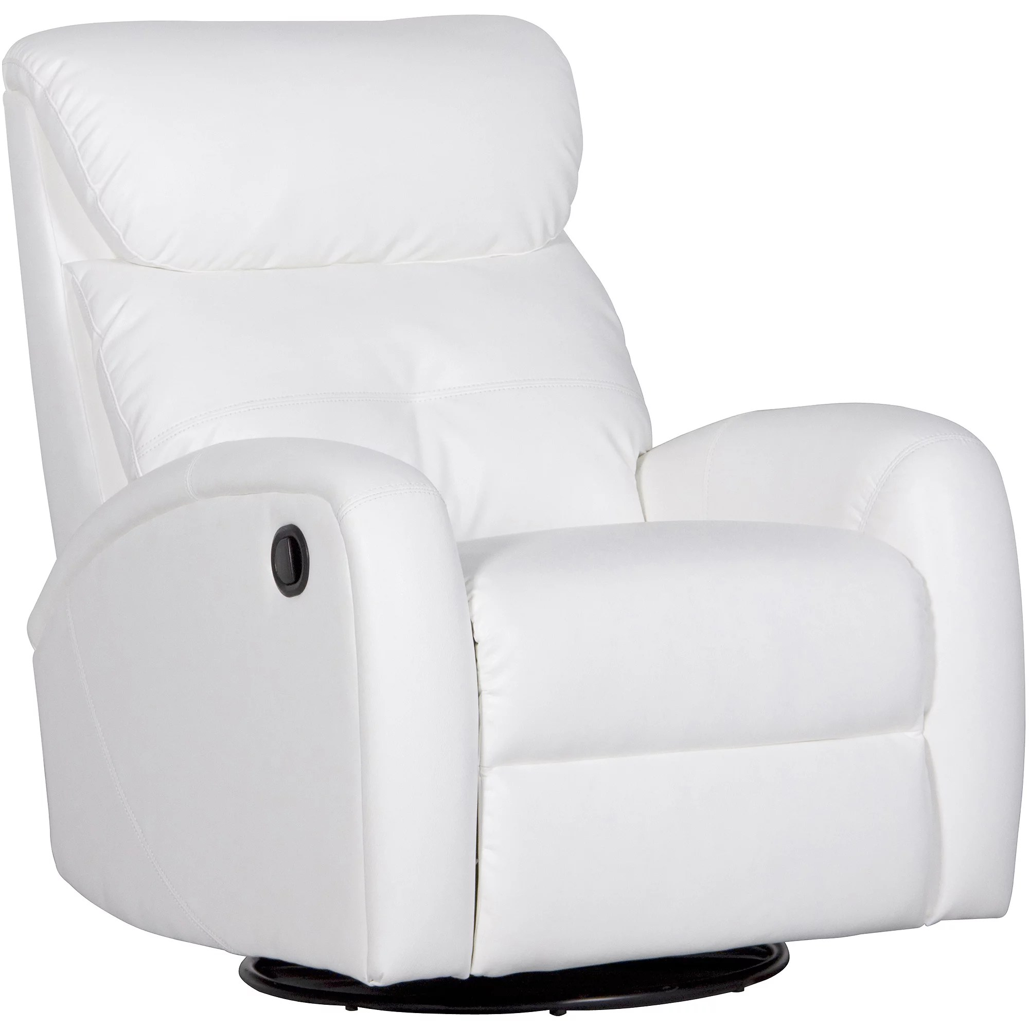 swivel chair harvey norman swing australia white leather recliner declan 360