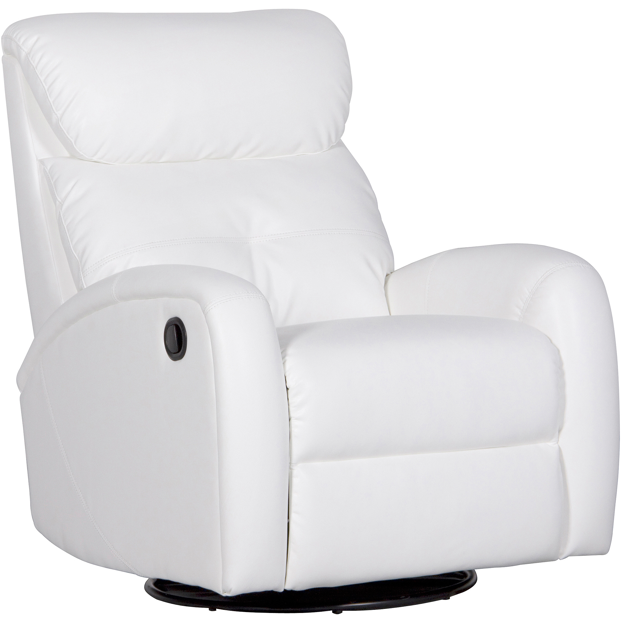 White Leather Swivel Chair White Leather Swivel Recliner Chair Declan Leather 360
