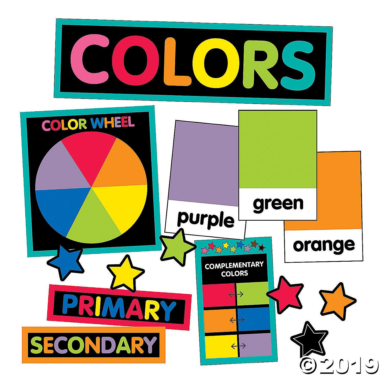 Carson Dellosa Just Teach Color Cards Mini Bulletin Board