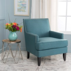 Dark Teal Accent Chair Backpack Beach Costco Noble House Tia Fabric Club Walmart Com