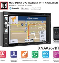 dual electronics xnav267bt 6 2 inch led backlit lcd multimedia touch screen double din car stereo with built in navigation bluetooth iplug smart app  [ 1126 x 1096 Pixel ]