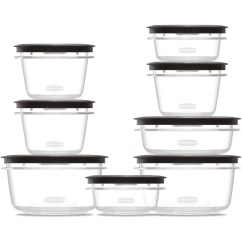 Rubbermaid Kitchen Storage Containers Table And Chairs Set Premier Food With Easy Find Lids 16 Piece Walmart Com