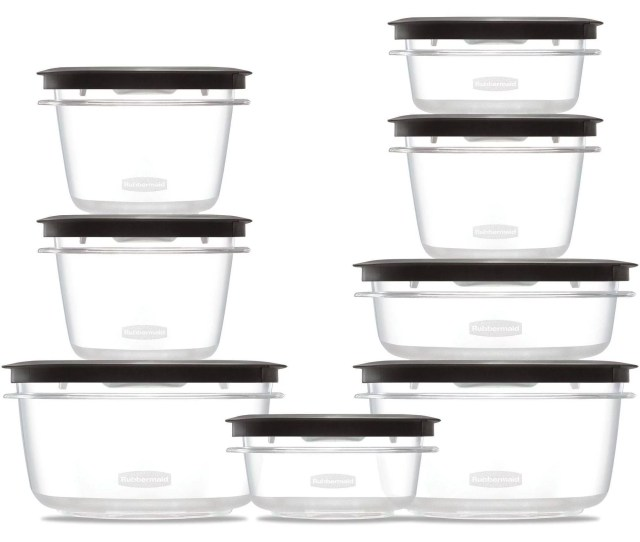 Rubbermaid Premier Food Storage Containers With Easy Find Lids 16 Piece Set Walmart Com