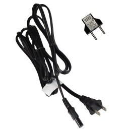 hqrp ac power cord for samsung ln40e550f7f ln46d503f6f ln46d550k1f ln46d560f9h ln46d567f9h ln46d610m4f un60es6100f un40ju6500 un40ju6700 hdtv tv lcd led  [ 1500 x 1500 Pixel ]