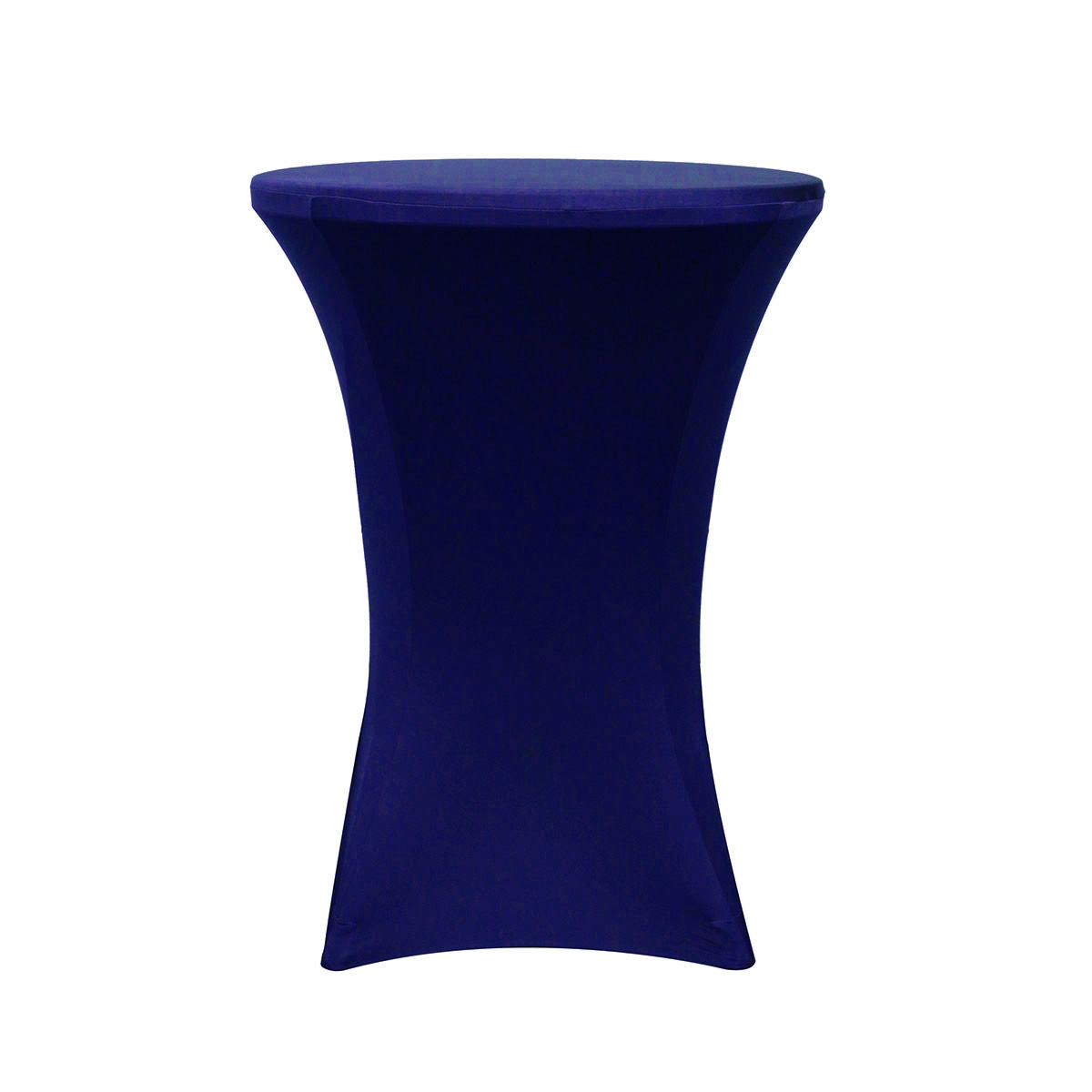 baby blue spandex chair covers tub your 32 inch highboy cocktail round stretch