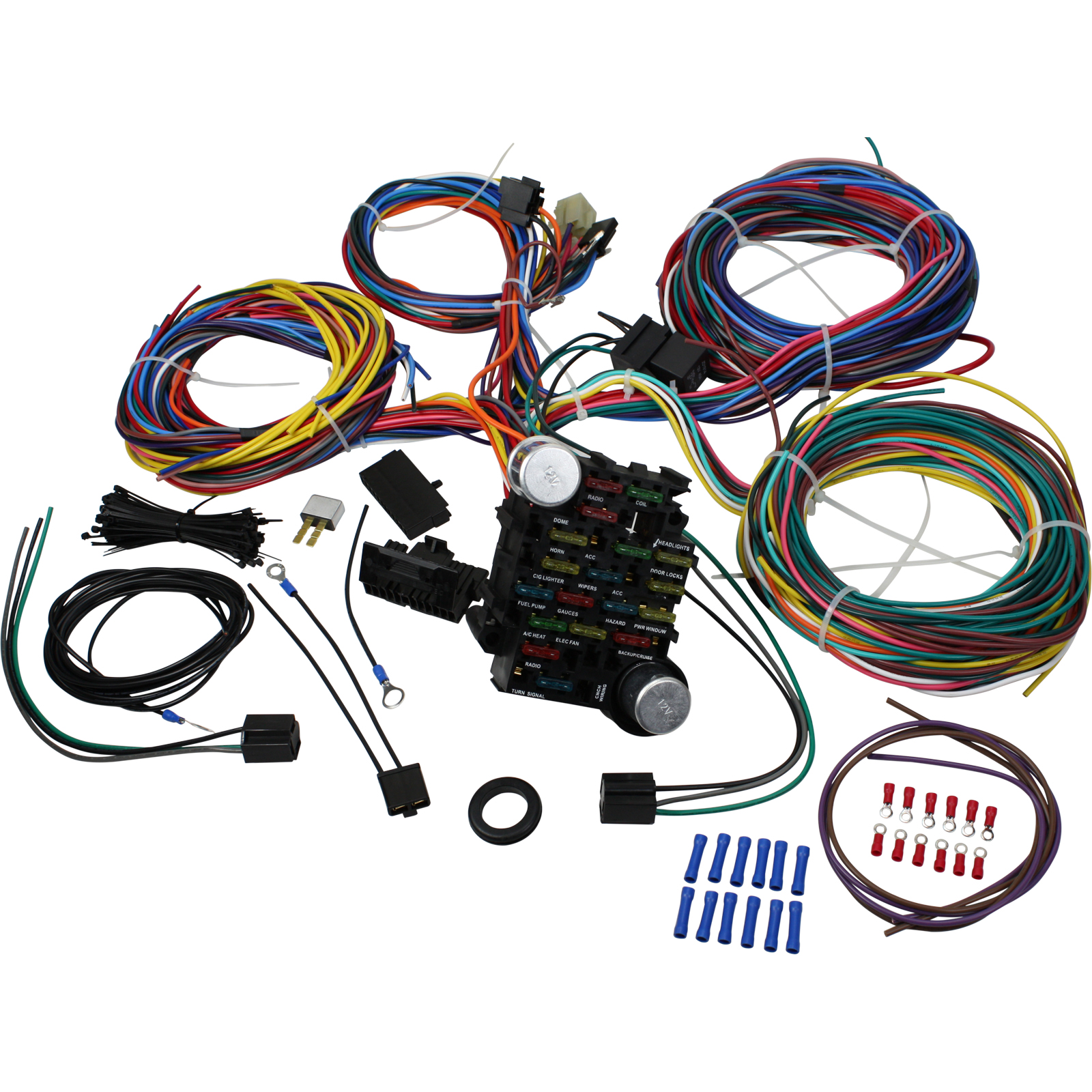 hight resolution of brand new 21 circuit wiring harness kit for all hot rods classics 4x4 custom project oem fit wh1001