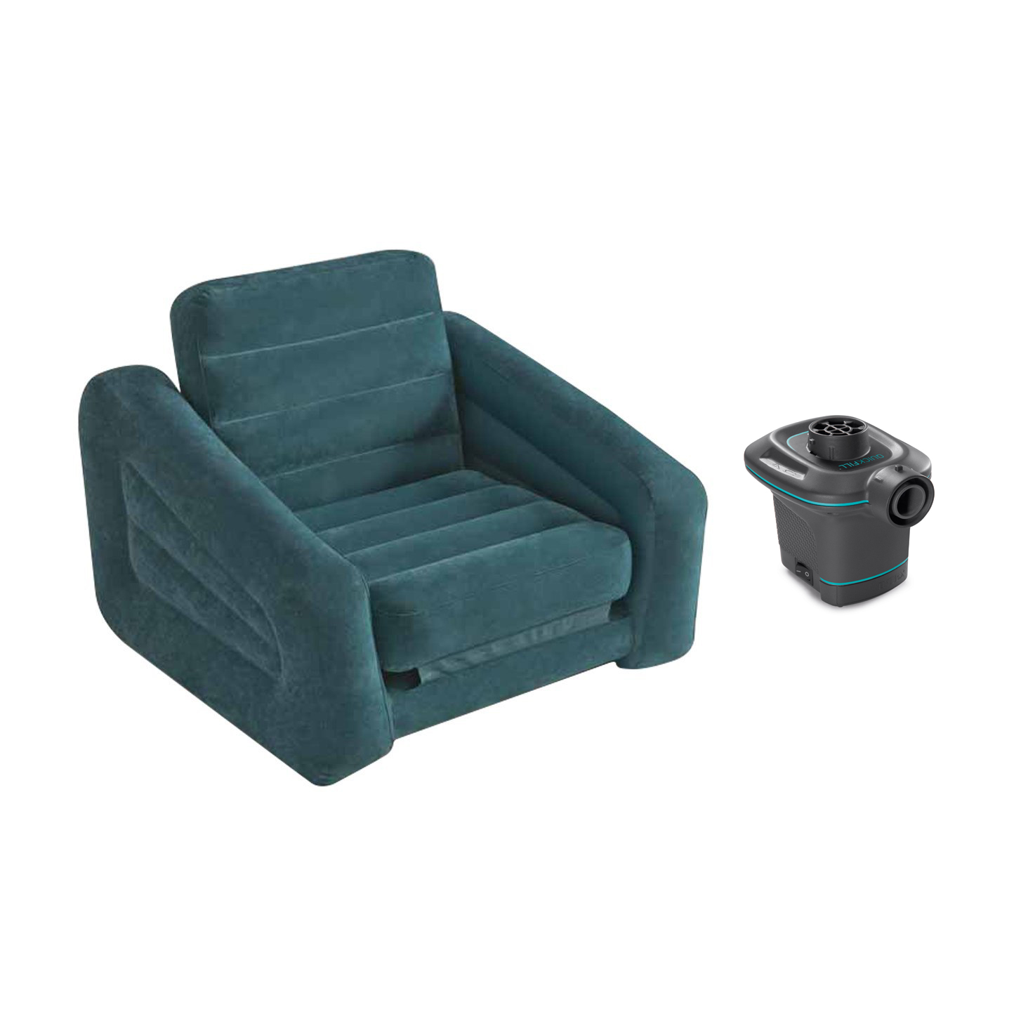 twin bed pull out chair swivel glider outdoor chairs intex ac electric air pump inflatable and mattress walmart com