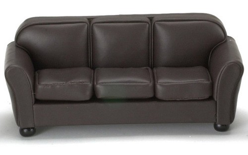 Dollhouse Sofa Brown Leather Walmartcom