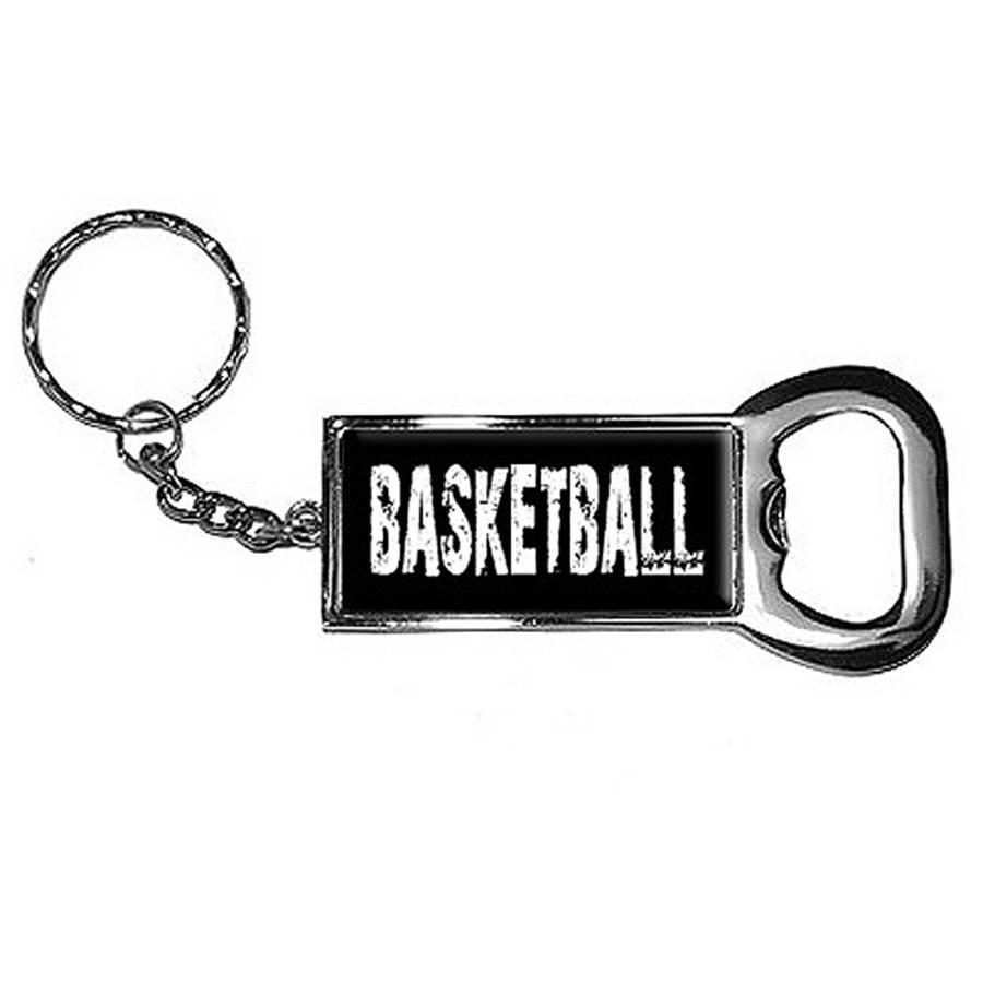 Basketball Keychain Key Chain Ring Bottle Bottlecap Opener