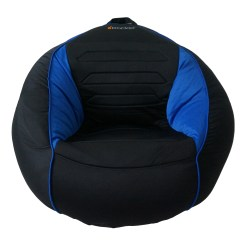 Kids Gaming Chairs Wicker Lounge Outdoor Kahuna Sound Child Chair Bean Bag Black And Blue 31 X