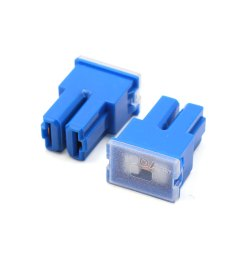 8pcs blue plastic auto car push in type female pal cartridge fuse dc 32v 100a [ 1100 x 1100 Pixel ]
