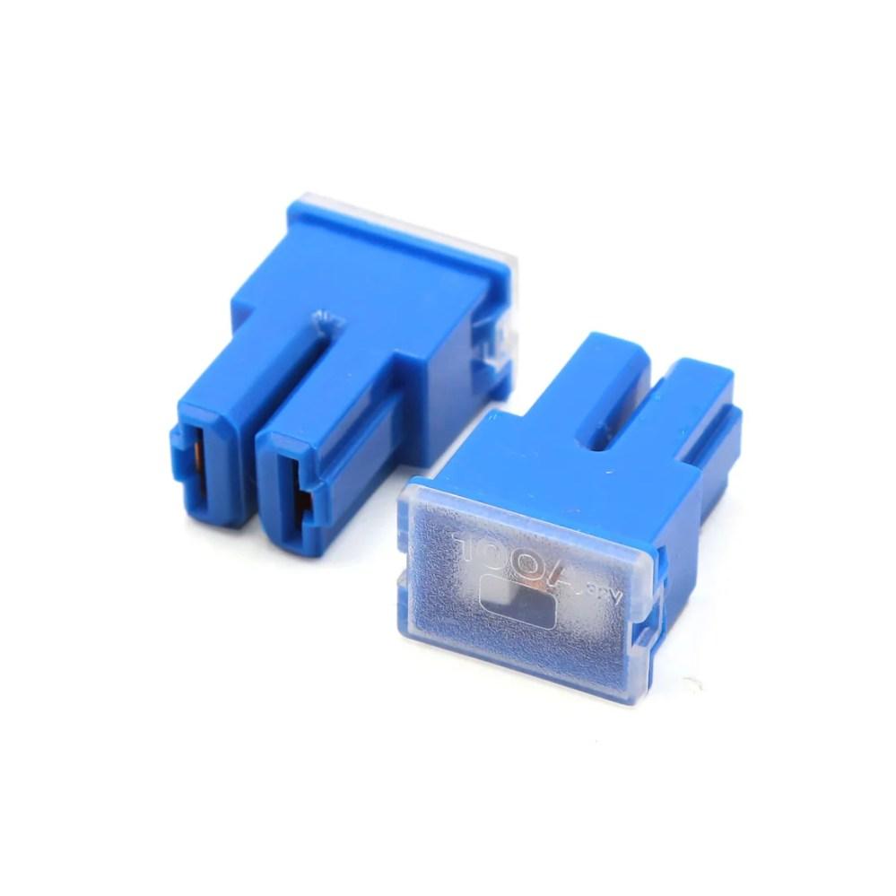 medium resolution of 8pcs blue plastic auto car push in type female pal cartridge fuse dc 32v 100a